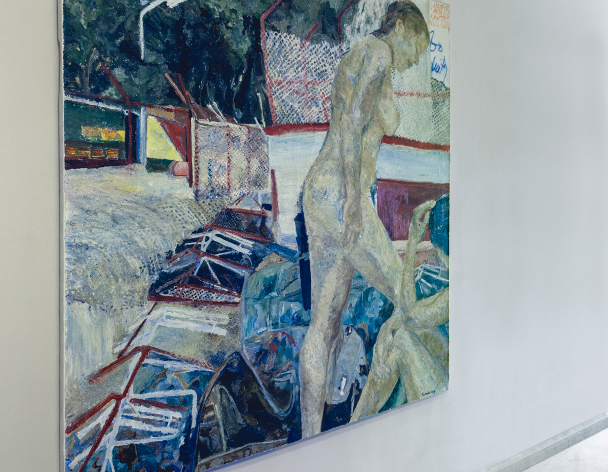 מסדרון חדרים יצירה של הציירת-פמלה לוי