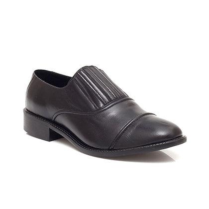 Sapato Sanfona Couro Preto