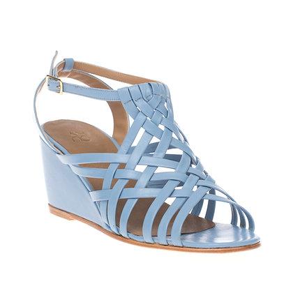 Sandália Trançada Azul Ardósia