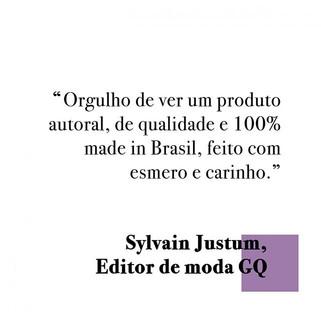 O editor de moda _sylvainjustum emociona