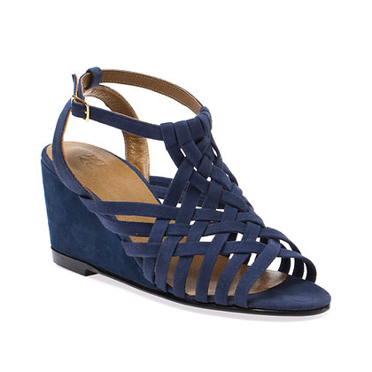 Sandália Trançada Jeans