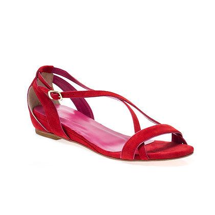 Sandália Navy Vermelho + Pink