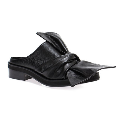 Sapato Mule Laço Preto