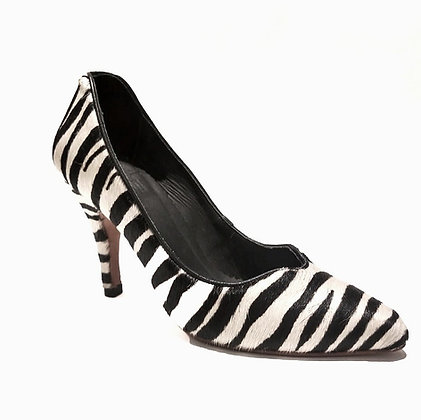 Scarpin Coração Zebra