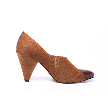 Ankle Boot Pelo + Verniz