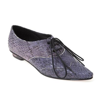 Sapato Oxford Bico Fino Cobra Azul