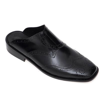 Sapato Mule Brogue Desconstruído