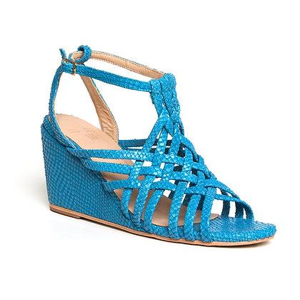 Sandália Trançada Cobra Azul