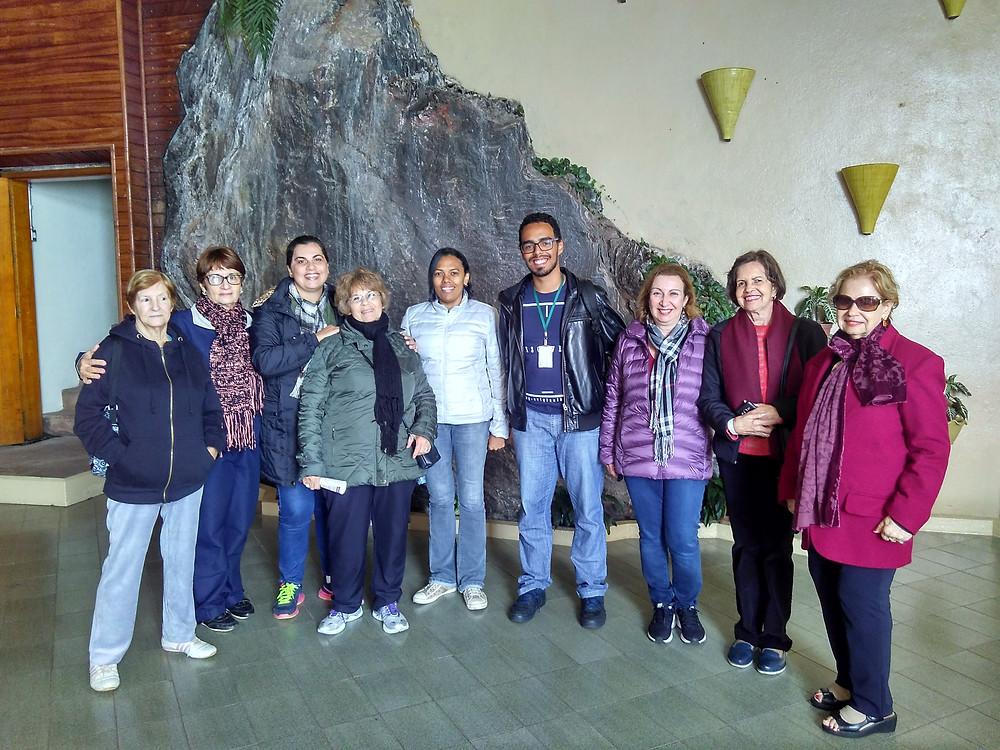 Grupo de Turistas do projeto Peregrina BH visitando o Santuário da Piedade (Caeté/MG)