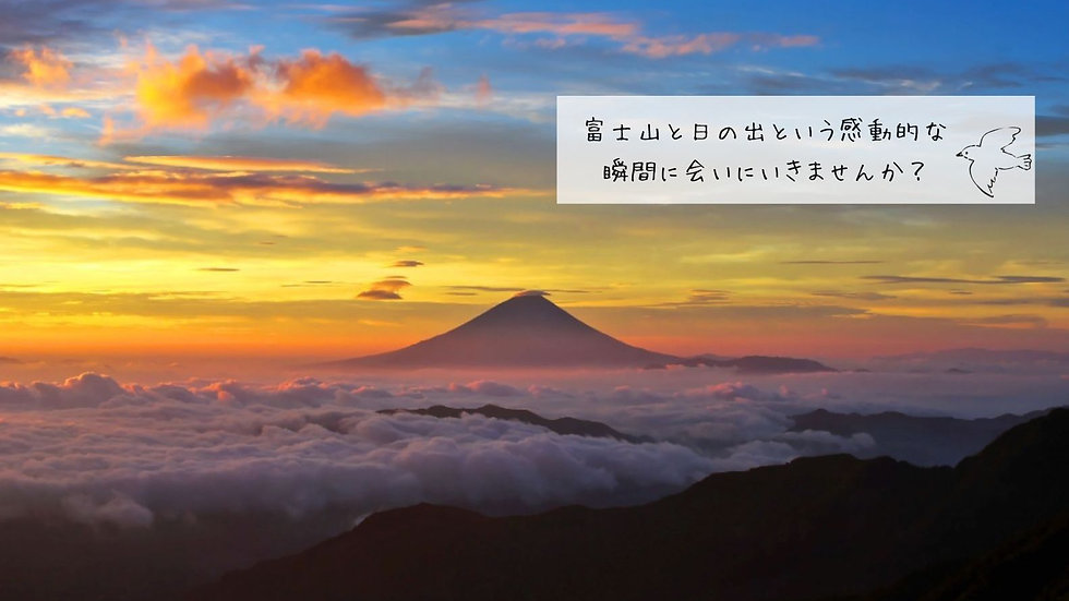 【夏の想い出】感動的な「富士山×ご来光」と爽快感あふれる縦走トレックの会
