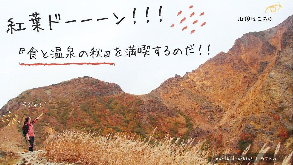 【 食と温泉の秋】 100名山の絶景紅葉を楽しむ会