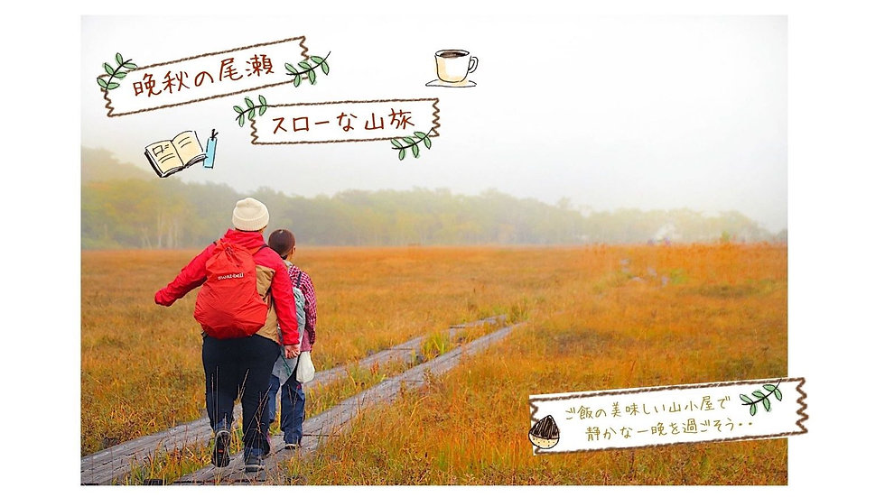 【今年最後のチャンス!】晩秋の尾瀬を、ご飯の美味しい山小屋で過すスローな山旅