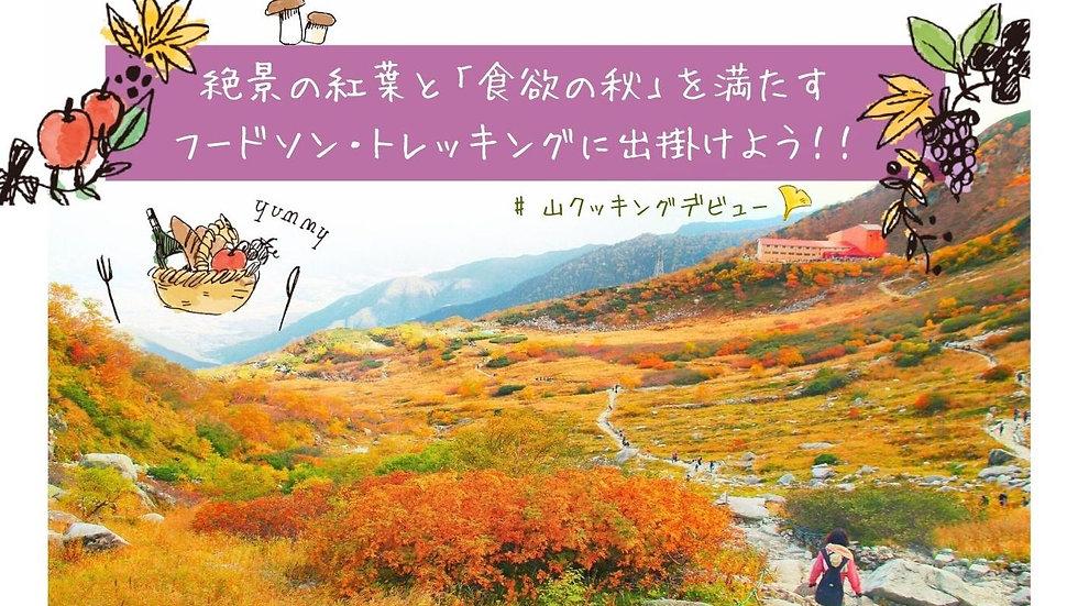 【紅葉×ヤマメシ】「山クッキング」で秋の味覚を楽しもう!美味しいものを食べ尽くすフードソントレッキング