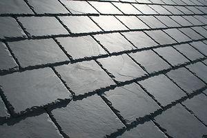 beautiful detailed slate roof close up w