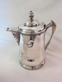Silver 19th century dedicatory water pitcher