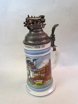 Fake German Regimental Beer Stein, postwar, lithophane base