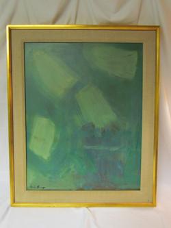 Mid century modern abstract art painting