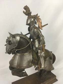 19th Century Armorial Model of Knight on horse