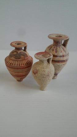 Group of Aryballos jars