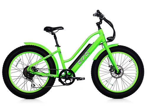 BadBike Evo Fat 250W GREEN FLOU