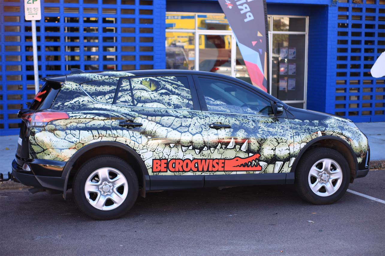 Be Crocwise Full Vehicle Wrap
