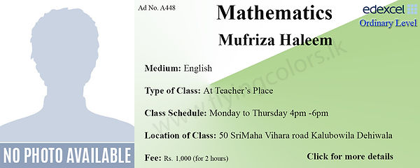 Edexcel O'Level Mathematics by Mufriza Haleem