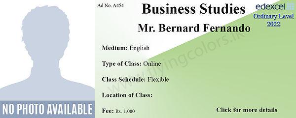 Edexcel Business Studies Ordinary level Tuition Class by Bernard Fernando
