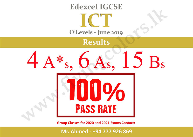Edexcel ICT O'Level Results