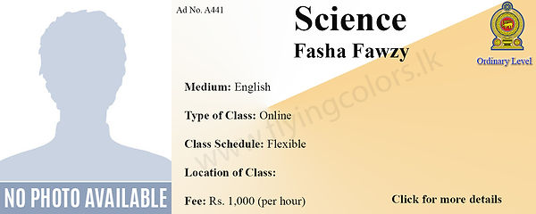 GCE O'Level Science Tuition by Fasha Fawzy