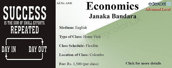 Edexcel A'Level Economics Tuition by Janaka Bandara