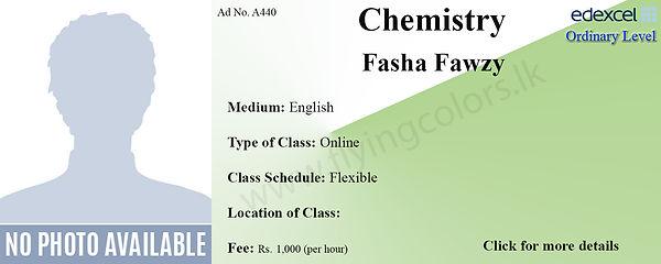 Edexcel O'Level Chemistry Tuition by Fasha Fawzy