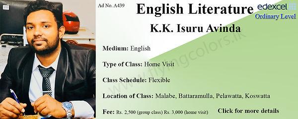 Edexcel O'Level English Literature Tuition by Isuru Avinda