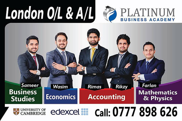 Teachers of Platinum Tuition Institute in Colombo