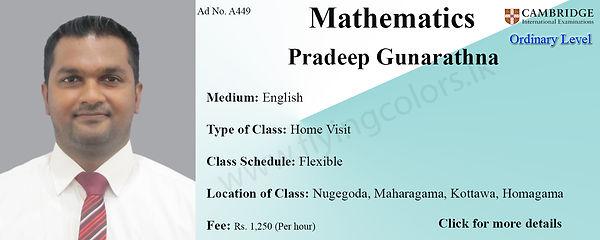 Cambridge O'Level Mathematics Tuition by Pradeep Gunarathna
