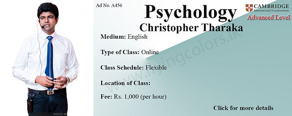Cambridge Advanced Level Psychology by Christopher Tharaka