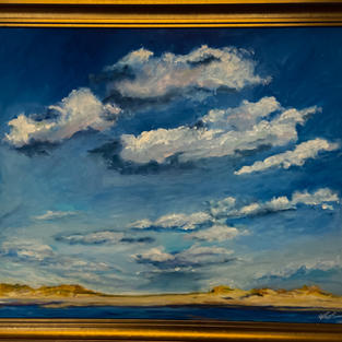 Blue Sky Beach by Kwynn patrick