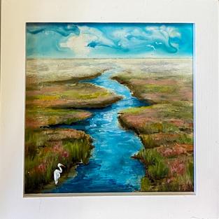 Wading Egret by Karen Joyce