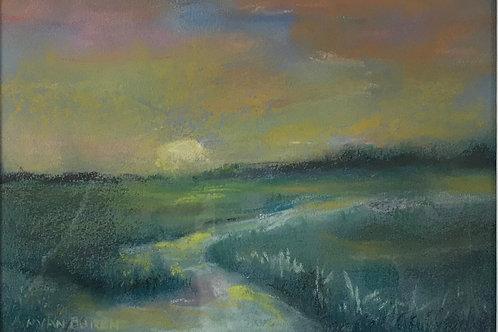 Nancy Van Buren - Marsh Moon Rise