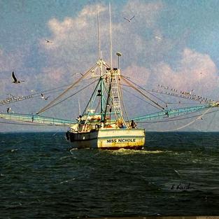 Sgrimp Boat by Eric Heidon