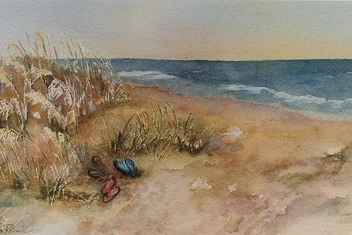 Paula Robertson - Barefoot on the Beach