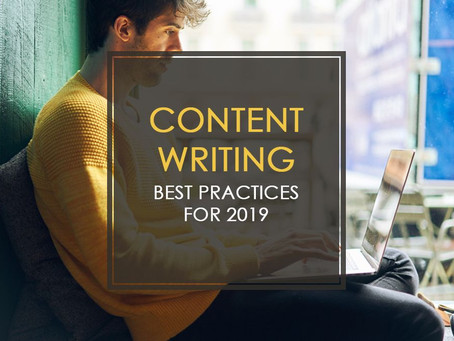 Content Writing Best Practices for 2019