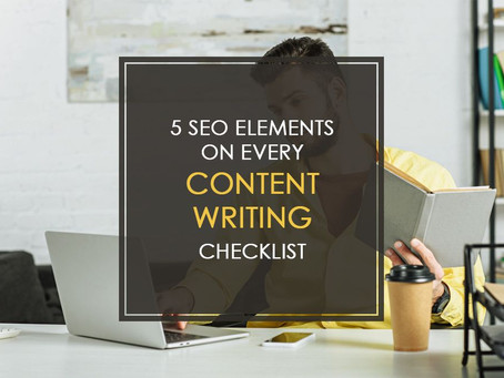 5 SEO Elements on Every Content Writing Checklist