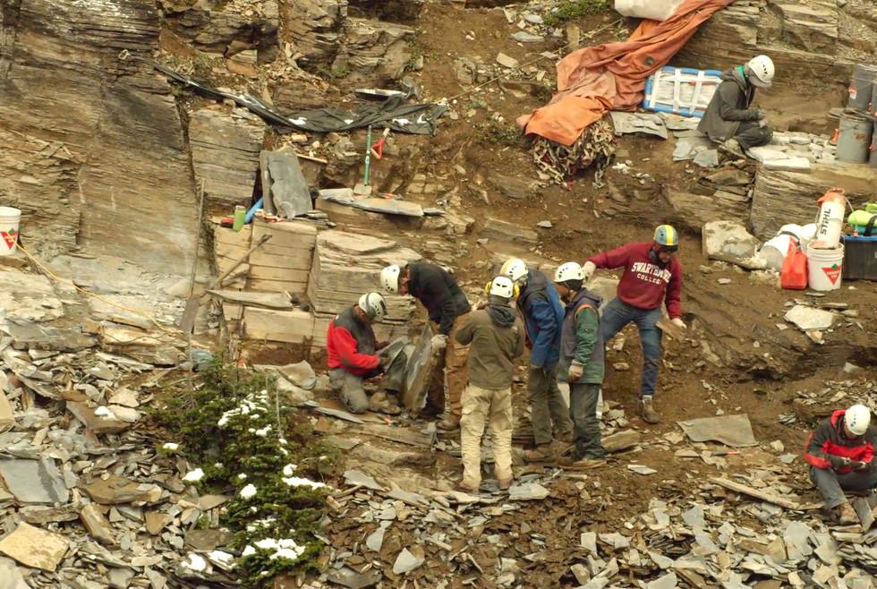 Closer view of quarry