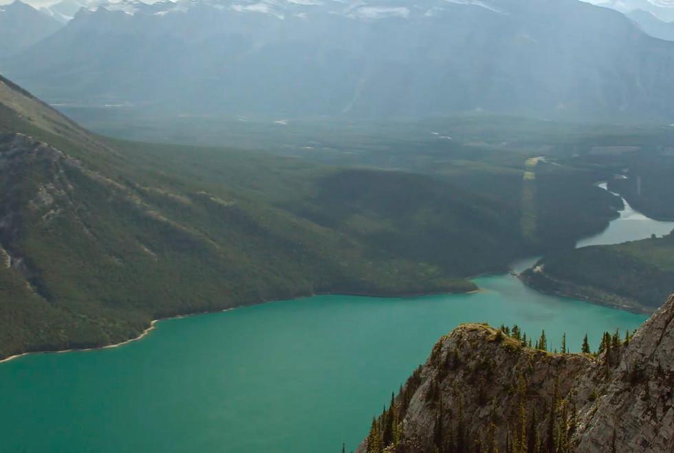Valley floor showing pristine alpine lake