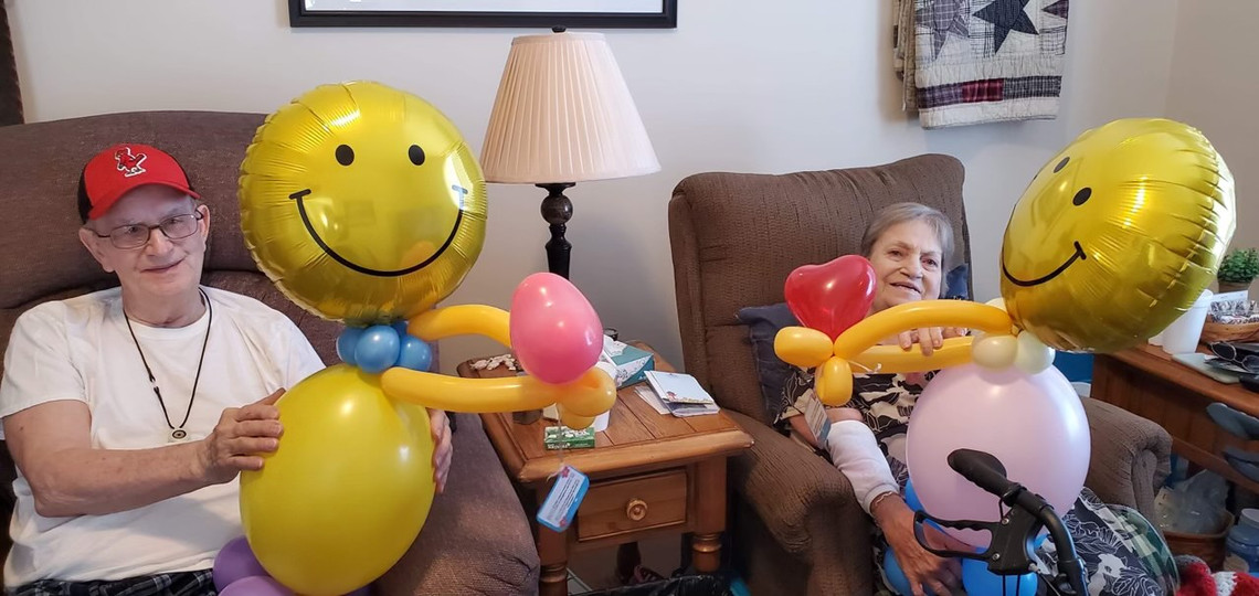 Nursing home residents love the surprise and are feeling the love!