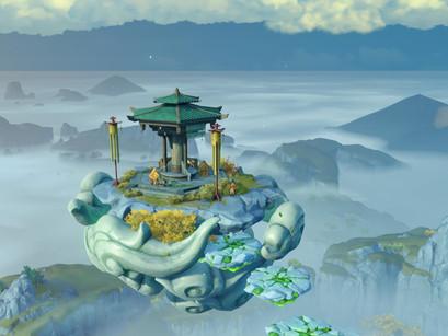 Genshin Impact: Como chegar na ilha flutuante e o que tem por lá.