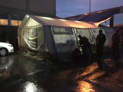 Borderfree-Zelt im Regen