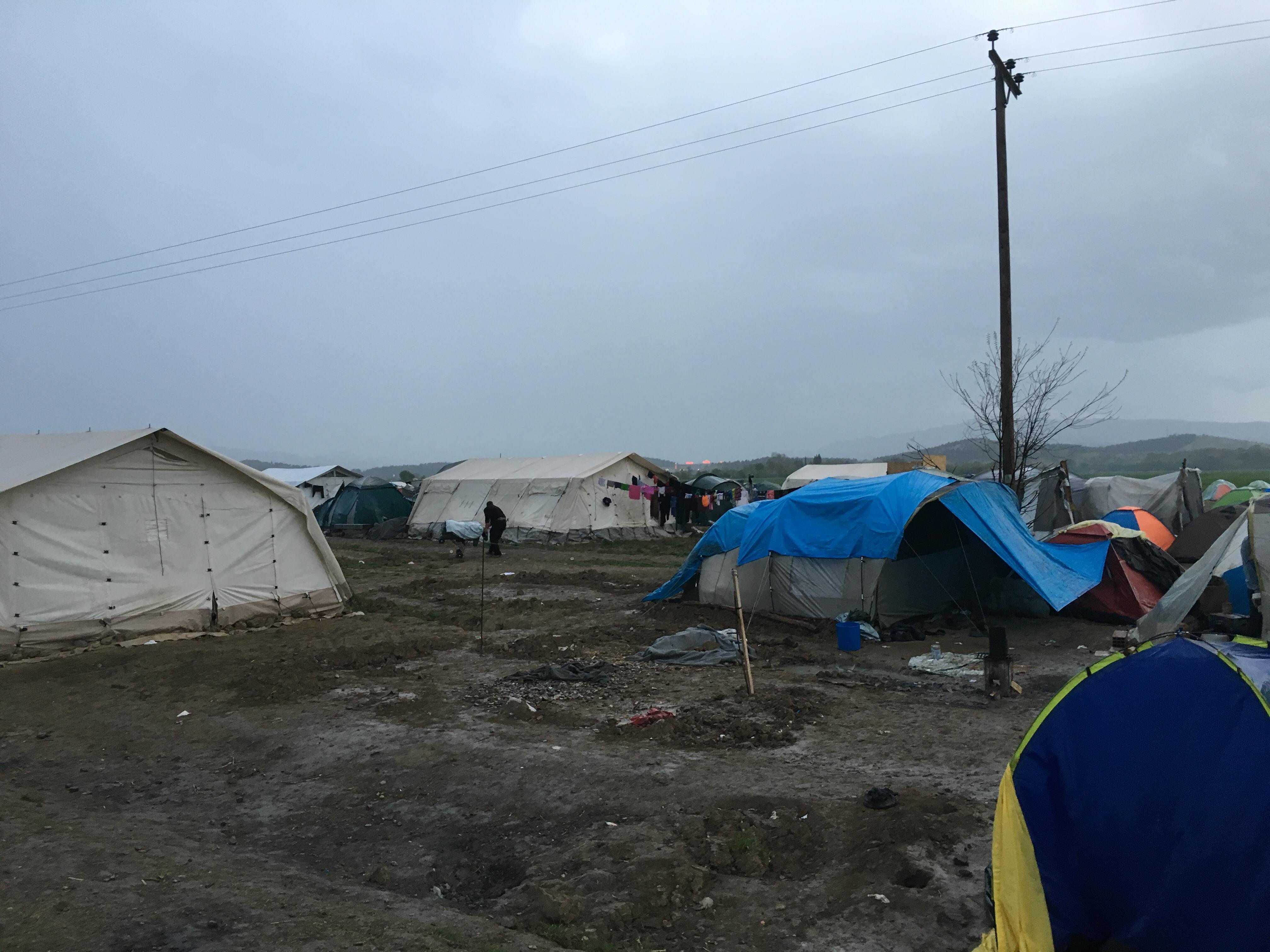 Eindruck: Camp im Regen