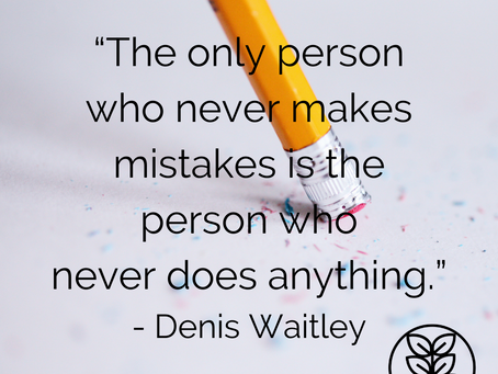 Monday Moment: Mistakes Can Motivate Us to Do Better...and Be Better