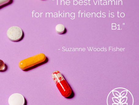 Monday Moment: How will YOU 'take your vitamins' this week?
